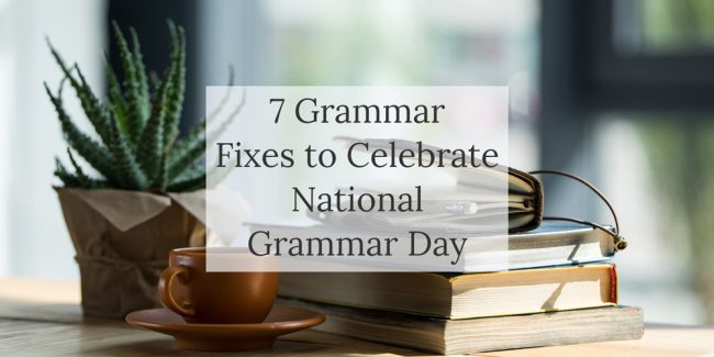 Blog post - Common grammar mistakes