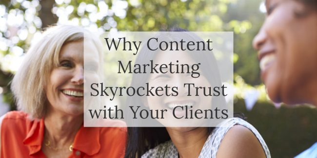 Blog post - Content marketing can increase trust