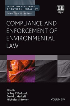Book cover - Compliance and enforcement of environmental law