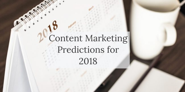 Blog post - Content marketing in 2018