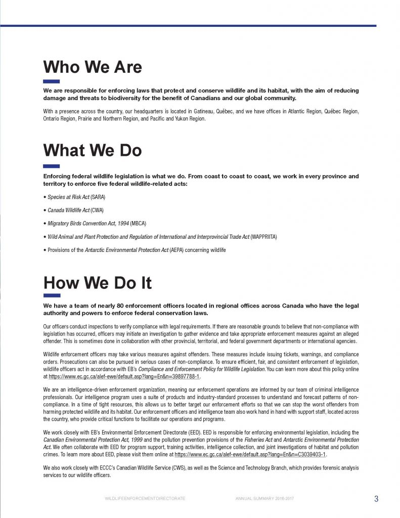 Professional writing sample - Government of Canada - page 9
