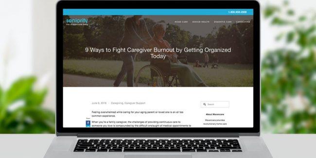 Copywriting sample - Blog post for healthcare company