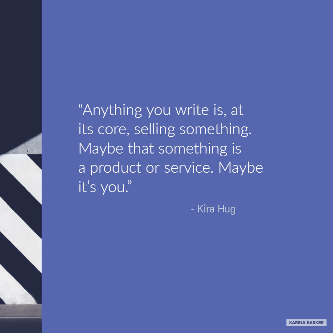 Copywriting Quote - Kira Hug