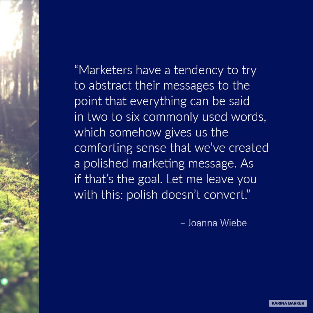 Copywriting Quote - Joanna Wiebe
