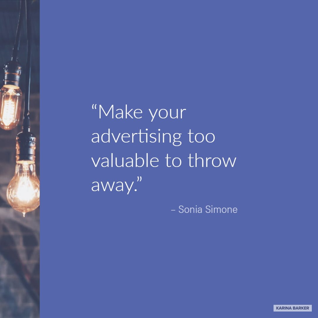 Copywriting Quote - Sonia Simone