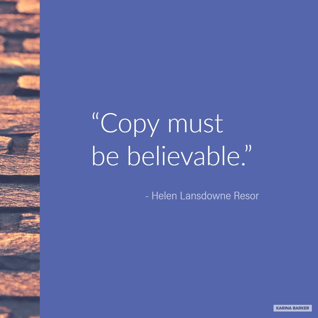 Copywriting Quote - Helen Lansdowne Resor