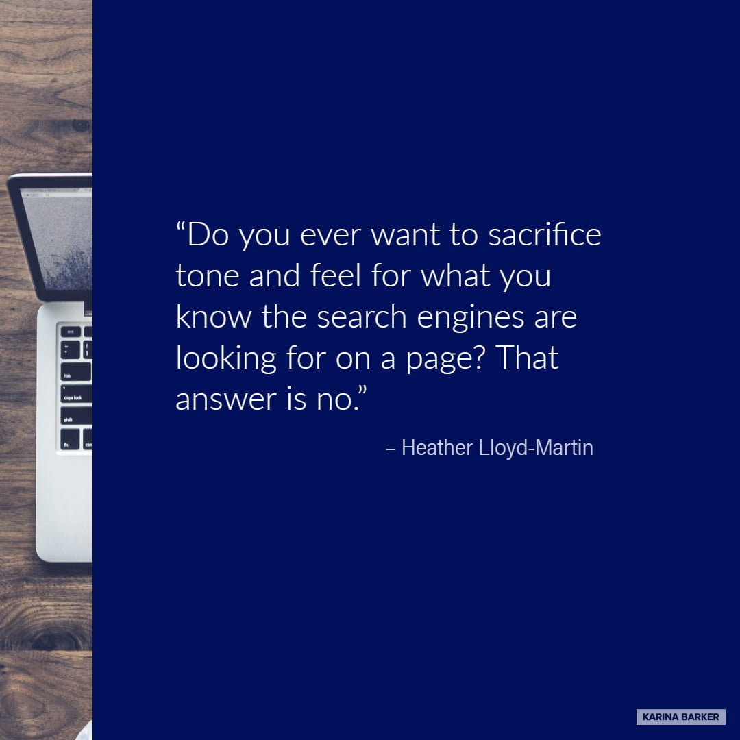 Copywriting Quote - Heather Lloyd-Martin